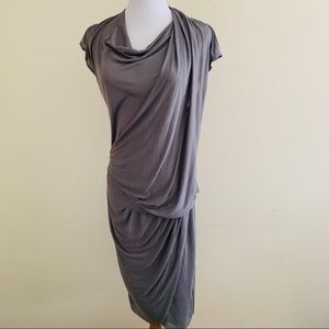 Helmut Lang medium dress warm bronze crinkle